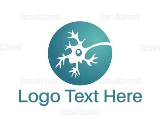 Cell - Blue Neuron  logo design