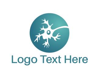 Neuron - Blue Neuron logo design