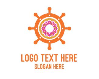 Wheel - Donut Wheel logo design