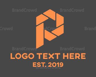 Photographer - Violet Shutter P logo design