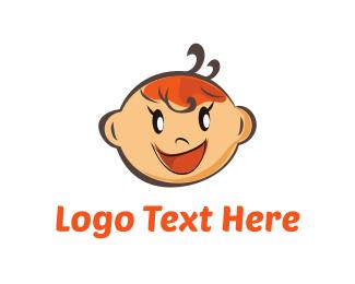 Child Care - Baby Girl logo design