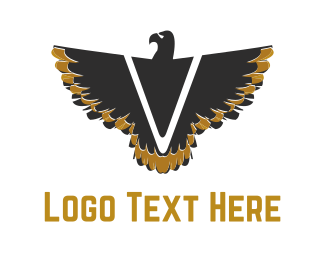 Brown - V Black Eagle  logo design