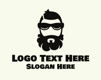 Guy - Hipster Beard logo design