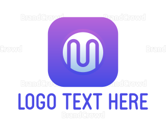 Frequency - Violet M App logo design