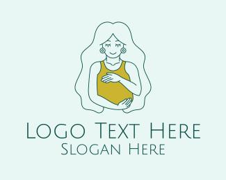 Pregnancy - Beautiful Pregnant Woman logo design