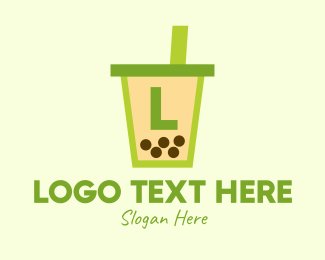 Bubble Tea - Boba Milk Tea Lettermark logo design