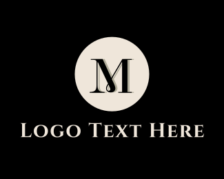 Manor - Elegant Letter M Circle logo design