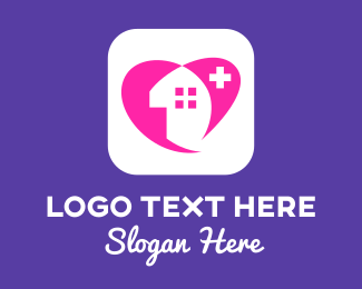 Health Care Worker - Health Care House logo design