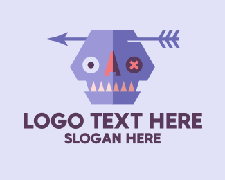 Dia De Los Muertos - Scary Zombie Monster  logo design