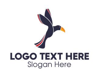 Fly - Flying Toucan logo design