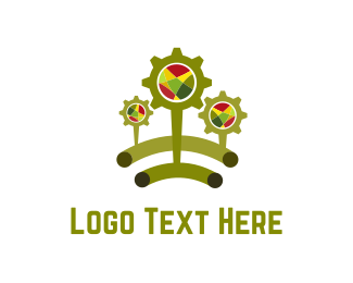 Engineering - Green Cogs logo design