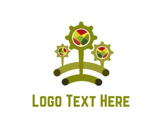 Mechanical - Green Cogs logo design
