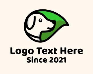 Mascot - Organic Leaf Dog logo design