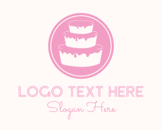 White And Pink - Pink Cake  logo design