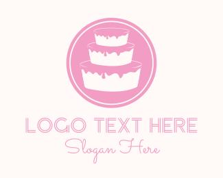 Pastry Chef - Pink Cake  logo design