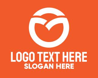 Ao - White Circle Letter O logo design