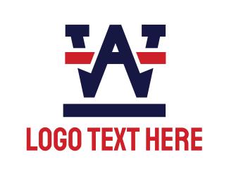 Lettermark - Industrial WA Lettermark logo design