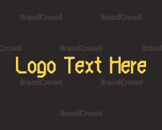 Rock Band - Bold Yellow Clan Font logo design