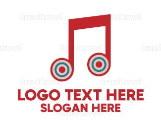 Target - Music Target logo design