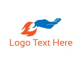 Support - Rocket Hand logo design