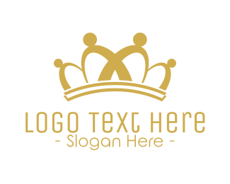 Coronet - Crown Community Icon logo design