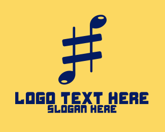 Music - Musical Sharp logo design