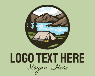 Rock Formation - Outdoor Adventure Tent logo design