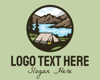 Picnic - Outdoor Adventure Tent logo design