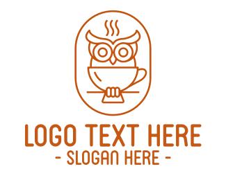 Aroma - Stroke Owl Coffee logo design