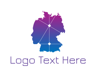 Continent - Gradient Germany Map logo design