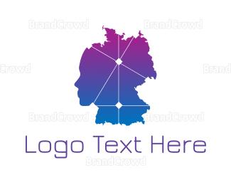 Map - Gradient Germany Map logo design