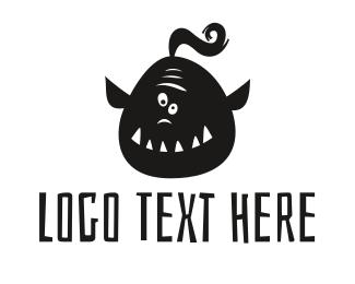 Birthday - Funny Orc logo design