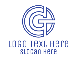 Seal - G Coin Outline logo design