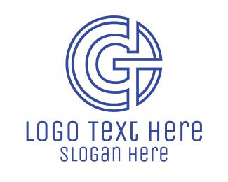 Coin - G Coin Outline logo design