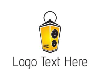Speaker - Music Lantern logo design