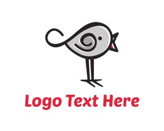 Sparrow - Cute Bird  logo design