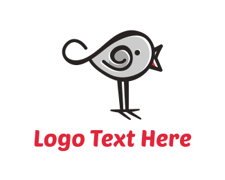 Cartoonish - Cute Bird  logo design