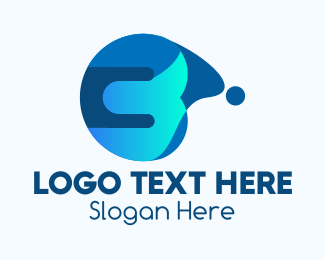 Wet - Blue Liquid Number 3 logo design