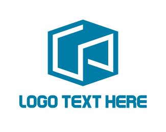 Storage - Abstract Blue Cube logo design