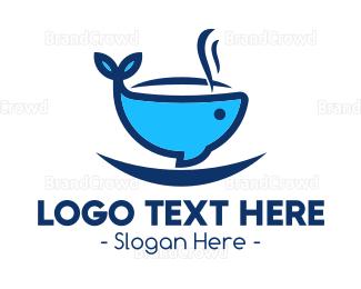 Cup - Blue Whale Cup logo design