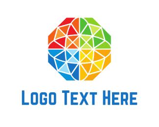 Gem - Diamond Globe logo design