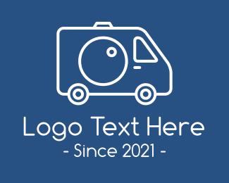 Events Management - Truck Camera Lens logo design