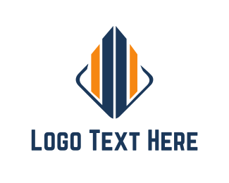 Corporate - Blue & Orange Building  logo design