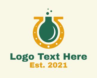 Lucky - Lucky Horseshoe Flask logo design
