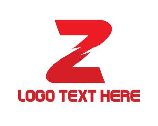 Letter Z - Red Letter Z logo design