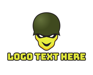 Army - Skull Soldier logo design