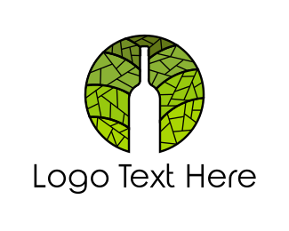 Wine Bar - Bottle Mosaic  logo design
