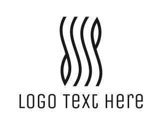 Art - Stylish Wave Lines logo design