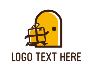 Present - Yellow Present logo design
