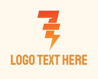 Company - Lightning Number 7 logo design